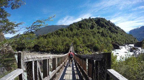 puente colgante Queulat